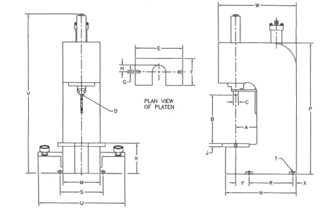 C Series Press Dimensions