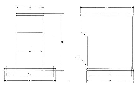 HILO 2 Post Floor Stand Dimensions